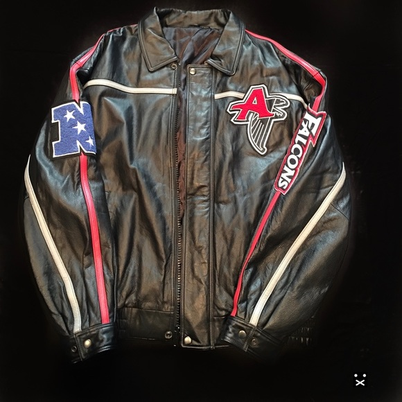 watch 73fb4 3748f Rare Vintage Atlanta Falcons NFL Leather Jacket